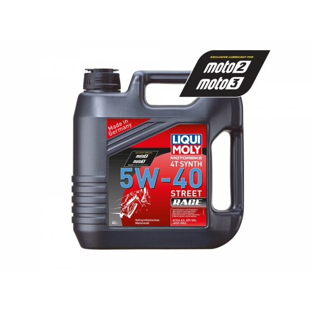 Liqui Moly Fuld-syntetiskStreet Race MC olie -5w40 4L