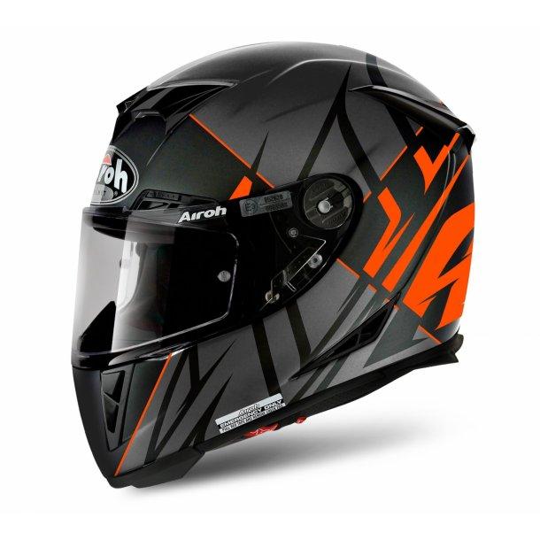 Airoh MC Hjelm GP 500 - Carbon - SECTORS Mat Orange