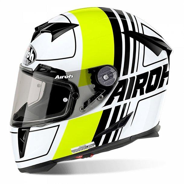 Airoh MC Hjelm GP 500 - Carbon - SCRAPE Blank Gul