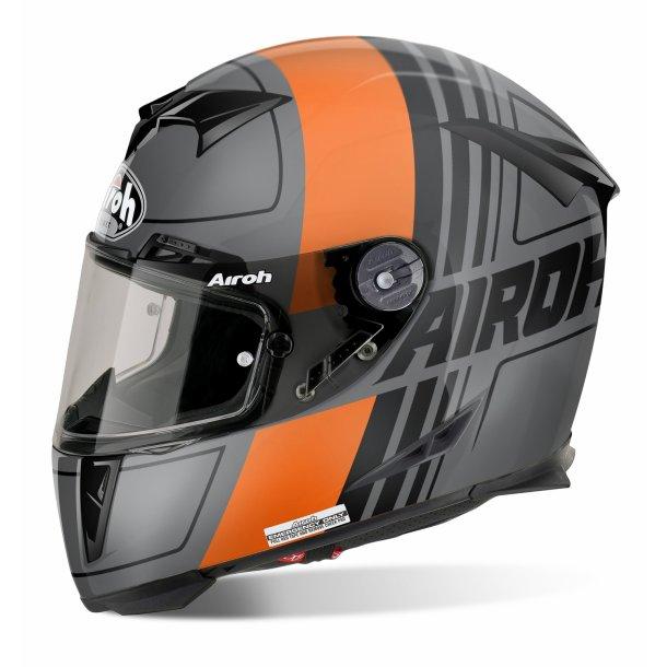 Airoh MC Hjelm GP 500 - Carbon - SCRAPE Mat orange
