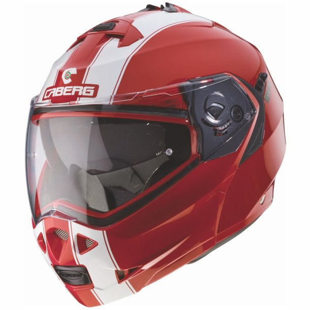 1f6ba0ba3822 CABERG Duke Legend Ducati rød hvid MC styrthjelm - CABERG Flip-up MC ...
