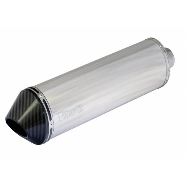 Viper Alu MC Udstødning - stubby (39cm) - Carbon end Cap