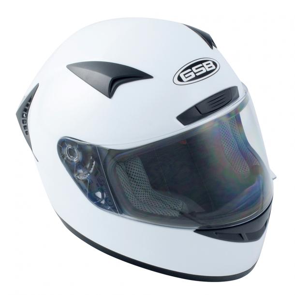 GSB G-335 Full-Face Hvid MC styrthjelm