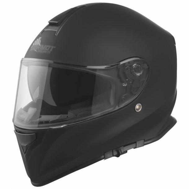 GermotGM 310 MC Styrthjelm -Mat Sort