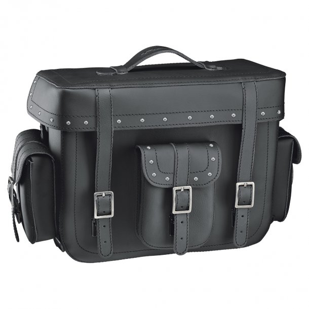 Held Cruiser Top Case MC Lædertaske med Nitter