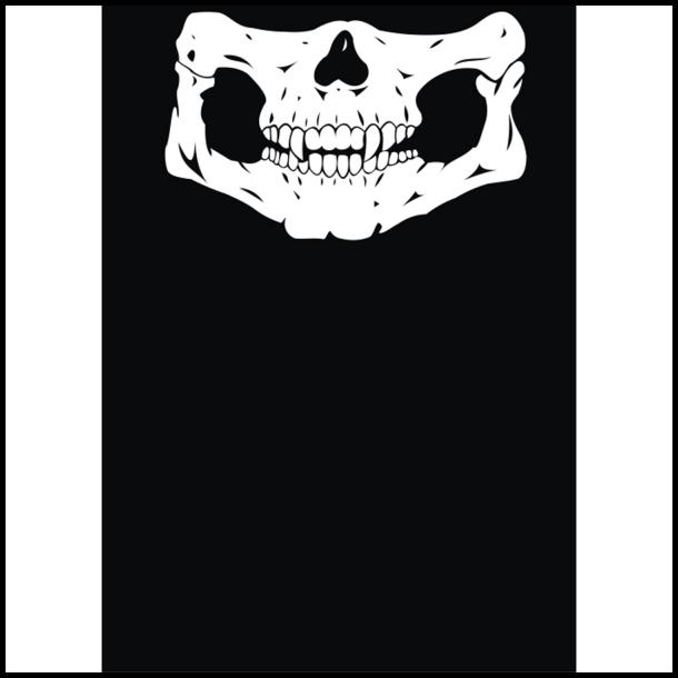MC Ansigtsmaske med Silikonepad påNæsen - Bones