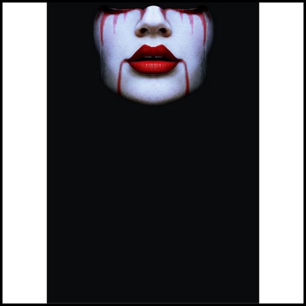 MC Ansigtsmaske med Silikonepad på Næsen - Bloody