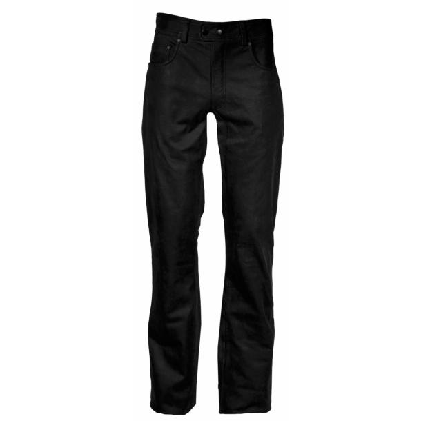sorte læderbukser