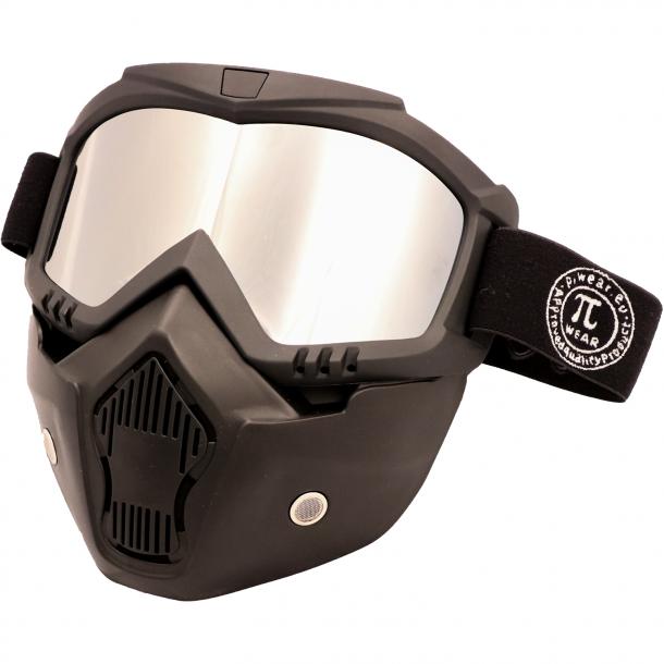 PiWearMC Motorbrille / Maske INVASE Spejl