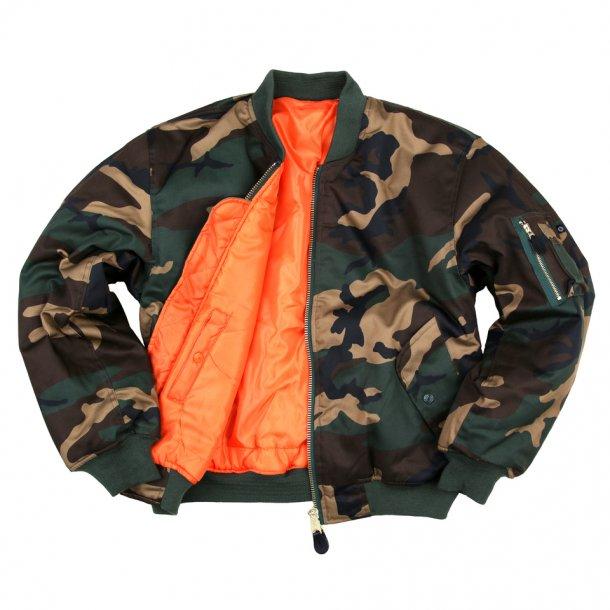 Pilot/Bomber MC jakke -Camouflage Grøn