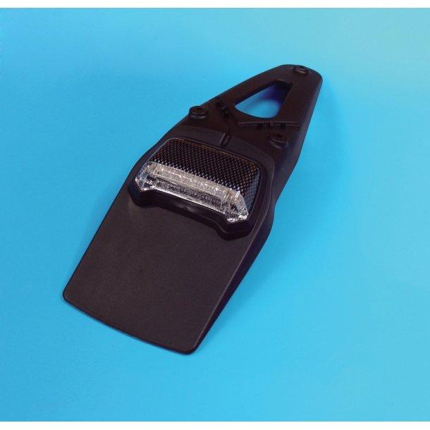 MC Spoiler / Nummerpadeholder med LED baglygte
