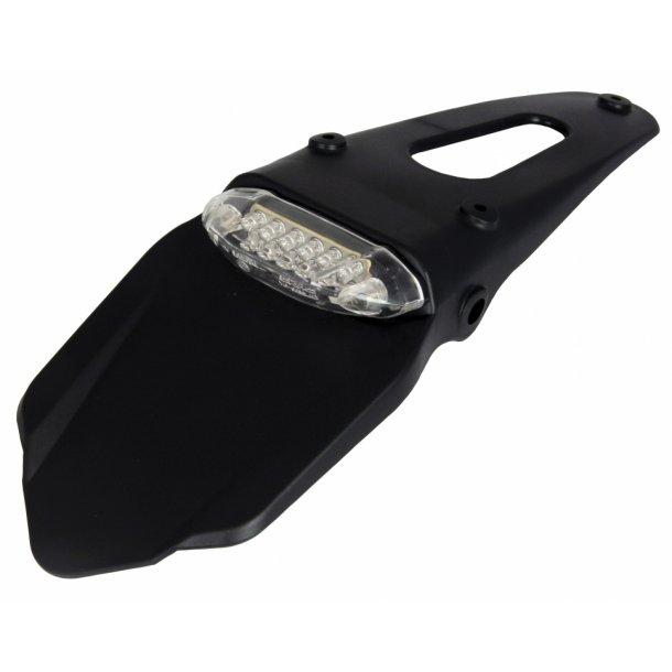 MC Spoiler / Nummerpladeholder med LED baglygte