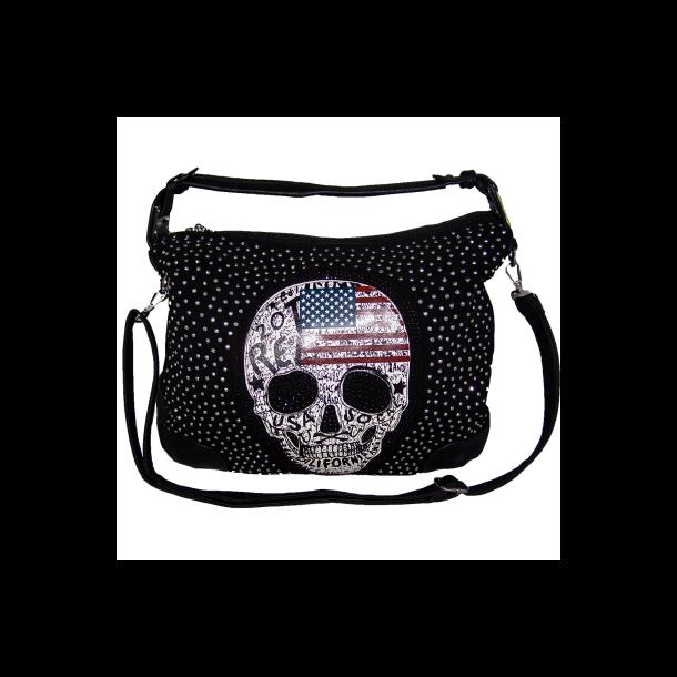 Taske shopper med USA kranie
