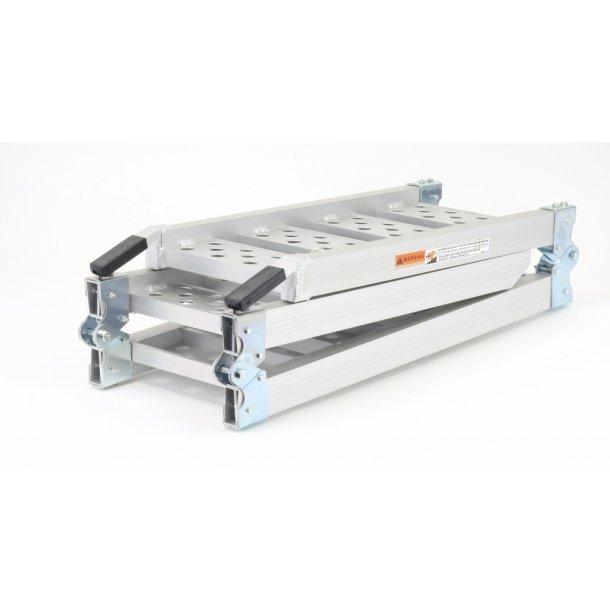 MC Letvægts Aluminiums Rampe - Tre-Foldelig