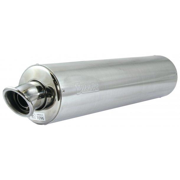 Viper Rund MC Aluminiums Udstødning - E-Godkendt