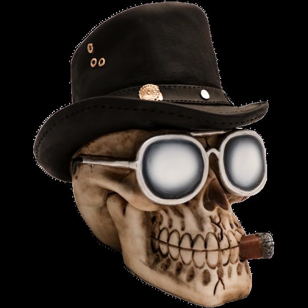 Western Kranie med Cowboyhat, Cigar og Solbriller