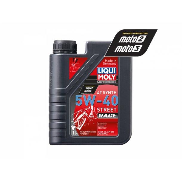 Liqui Moly Fuld syntetisk Street Race MC olie 5W-40 - 1 L