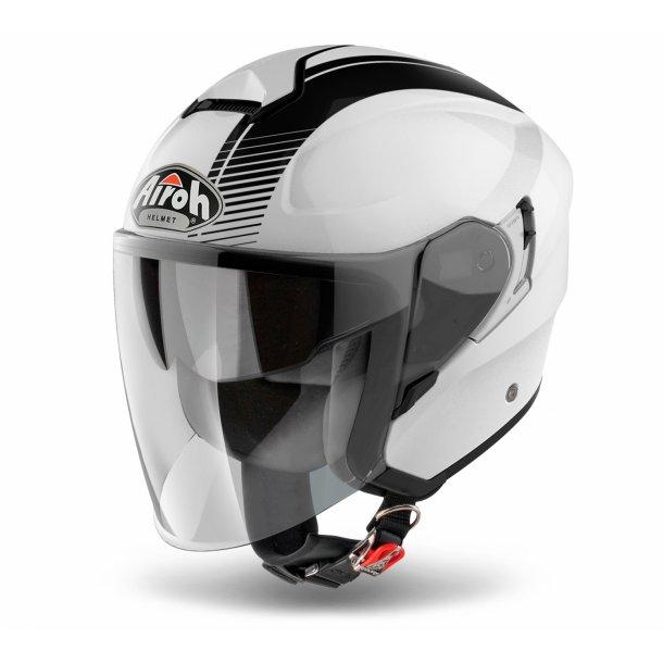 Airoh MC Jet hjelm Hunter - SIMPLE Blank Hvid