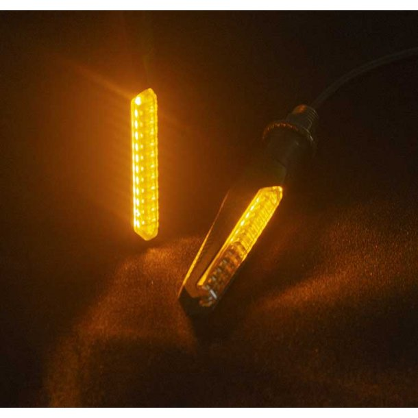Hawks MC LED Løbelys Blinklys - E-Godkendt