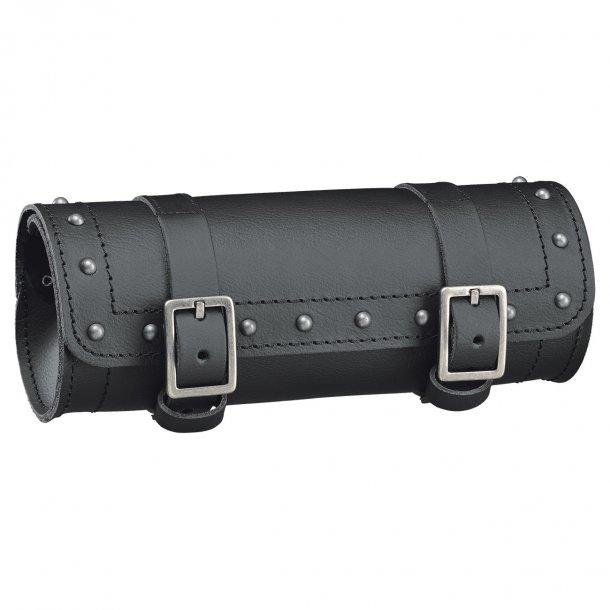 Held Cruiser Tool Bag MC Læder Værktøjsrulle med Nitter