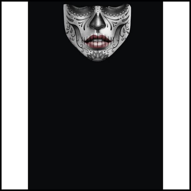 MC Ansigtsmaske med Silikonepad på Næsen - Face 6
