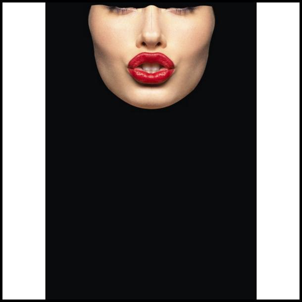 MC Ansigtsmaske med Silikonepad på Næsen - Face 8