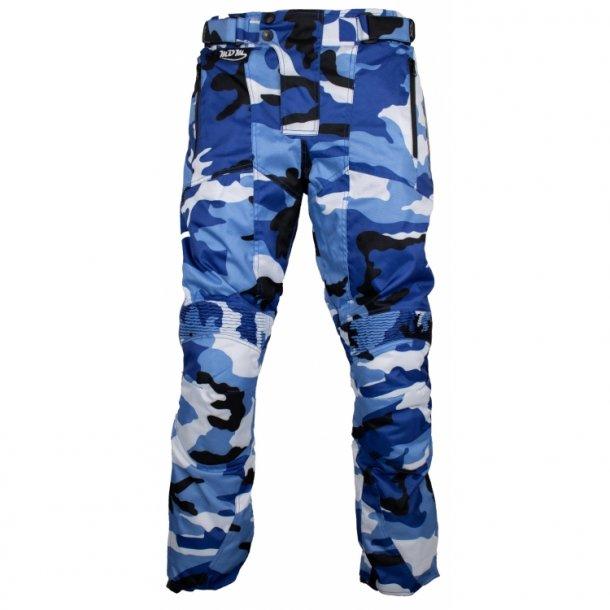 MC Camouflage bukser - Blå-Hvid