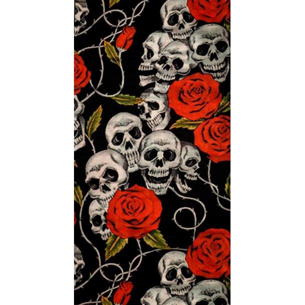 """Multifuktions MC Halsrør""""Skulls & Roses"""""""