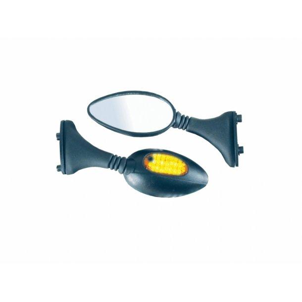 Universal kåbe spejle med LED blinklys