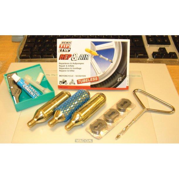 Motorcykel lapnings kit