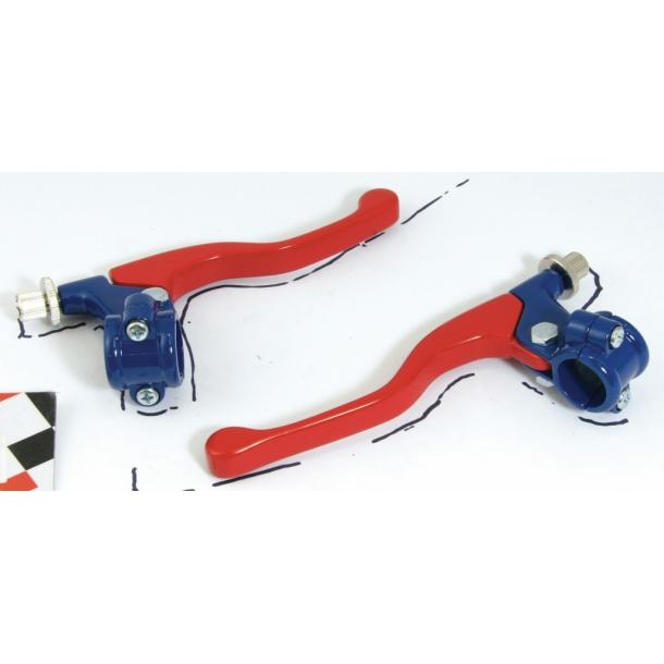 Korte bremse og koblingsgreb Rød/Blå