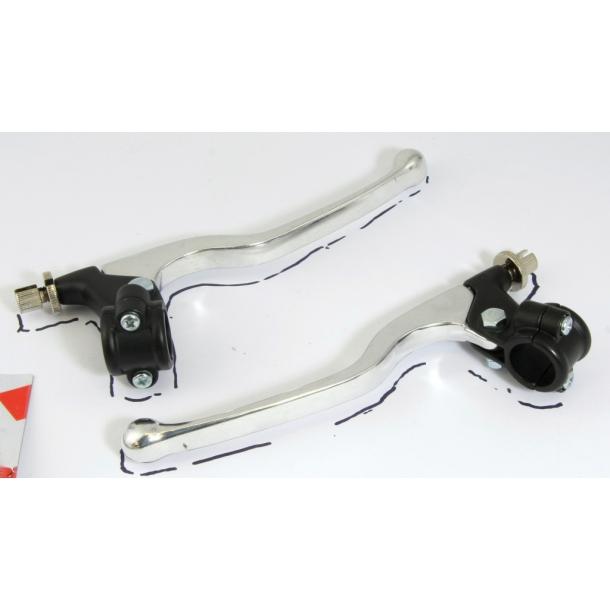 Lange bremse og koblingsgreb Alu/sort